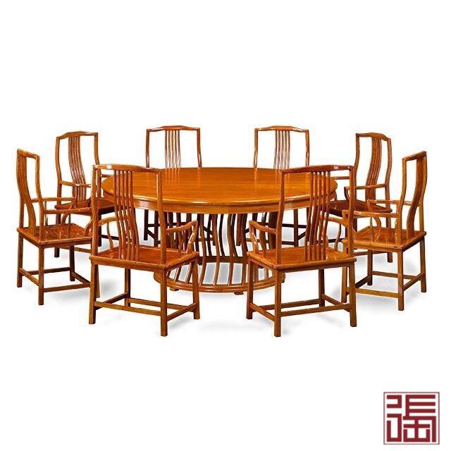 梳影圆餐桌(9件套)