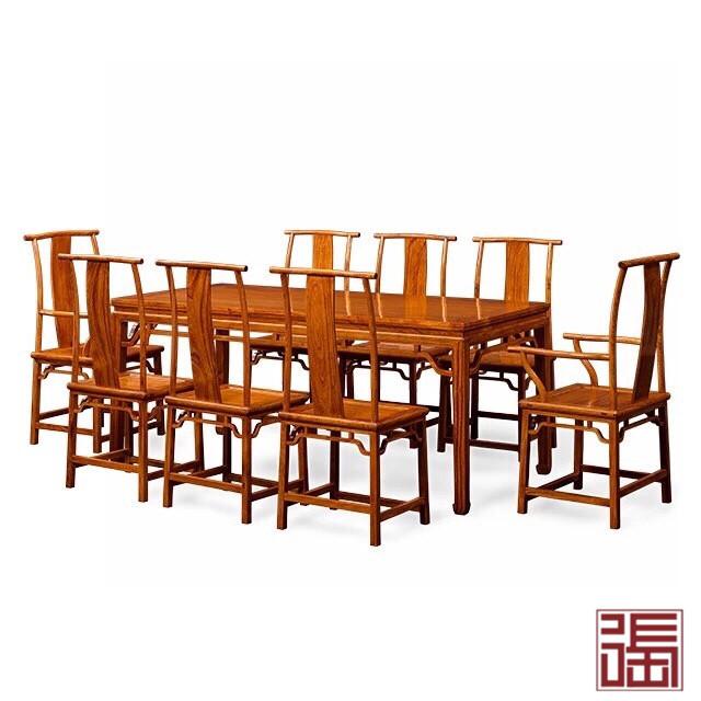马蹄腿餐桌(9件套)
