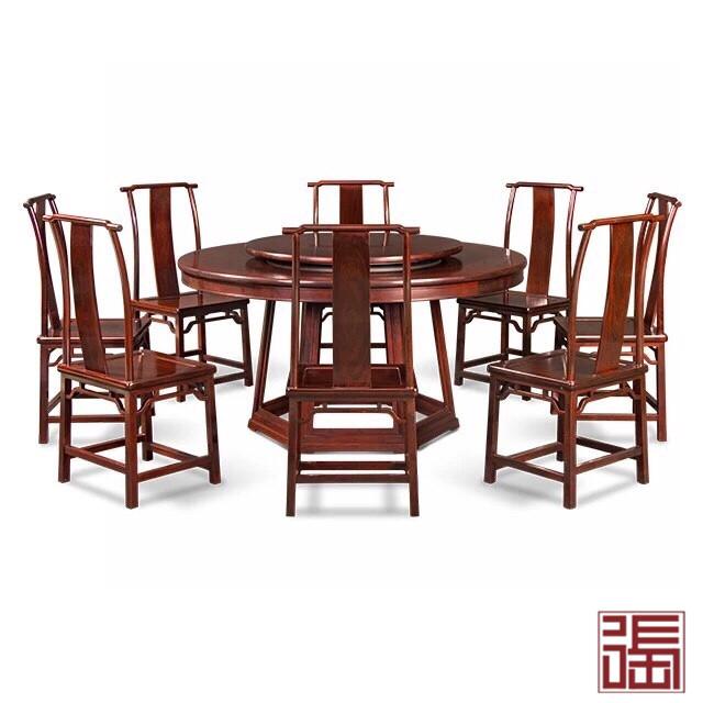 六角底座圆餐桌(9件套)