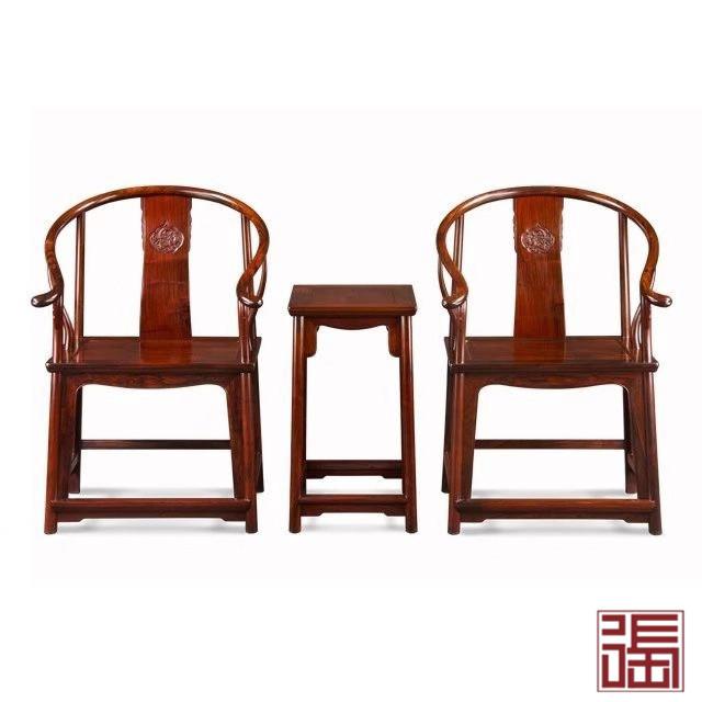 螭龙独板素圈椅